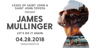 """***SOLD** *2-James Mullinger """"LET'S DO IT AGAIN"""" VIP Tickets"""