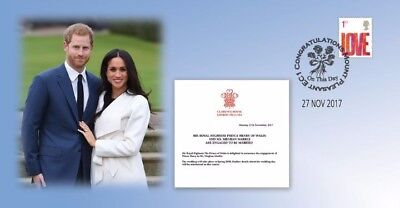 Prince Harry & Meghan Engagement Bradbury First Day Cover BFDC Stamps