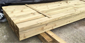 """🌲Wooden Pressure Treated Easy Edge Lengths/ Rails • 4""""X 2""""X 4.2M • New •🌲"""