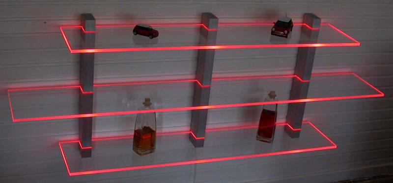 wandboard aus aluminium und acryl beleuchtet mit led technik in nordrhein westfalen. Black Bedroom Furniture Sets. Home Design Ideas