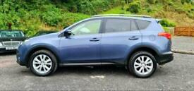 image for 2013/63 TOYOTA RAV-4 INVINCIBLE 2.2 D-4D BLUE with BLACK LEATHER SUV NAV 5DR 4X4