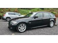 2010 BMW 318D M-SPORT TOURING DIESEL ESTATE AUTOMATIC BLACK AUTO FSH 140BHP 318