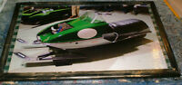 Vintage RTX Skiroule - mounted snowmobile pics - 2 different