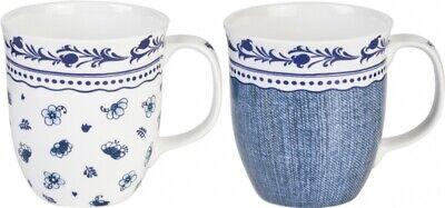 *Porzellan*Becher*Tasse*Henkeltasse*Mug*blau&weiß* Blau Weiß Mugs
