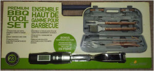 New Premium Stainless Steel BBQ Tool Set with bonus temp fork