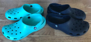 **TWO PAIRS OF LADIES CROCS FOR SALE-SIZE 8-9**