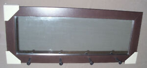 Wall Mirror with 4  Peg / Hooks