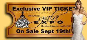 GALA EXPO 2017 - Moncton's Wedding Bridal Show - VIP TICKETS !