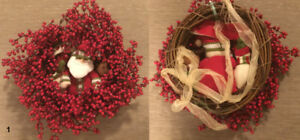 CHRISTMAS Decorations Poinsettia Wreath Wrapping Ornaments Clips