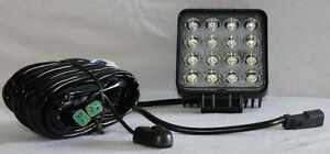 SALE Square 16 LED Work Light with Plug and Play Wiring Harness