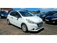 2013 PEUGEOT 208 1.0 ACCESS 3DR WHITE HATCH FREE TAX LOW EMISSIONS BAND A PETROL