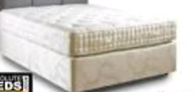 """Bed, Divan, Double 4'6"""" Pocket Sprung"""