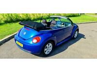 2008 VOLKSWAGEN BEETLE 1.6 LUNA CONVERTIBLE BLUE VW CABRIOLET 2DR CAB ELEC ROOF