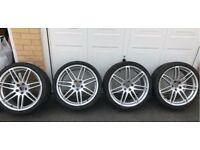 Audi Skoda Vw VAG A4 S4 B7 SLINE RS4 18'' SILVER Alloy Wheels Can sell single Can post Px Welcome