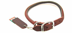 MEDIUM LEATHER COLLAR BROWN
