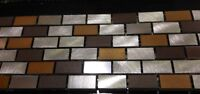 Metal mosaic backsplash tile!!  Only $4.99 SF.