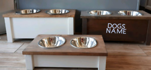 Dog Dish Stand Personalized
