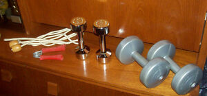Weider and Dumbell Hand Weights, Excercise rope, Hand Grip