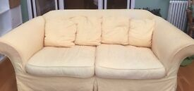 Fabric sofa for sale delivered for small fee