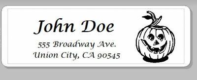 150 -custom Printed Large Center Aligned Return Address Halloween Labels