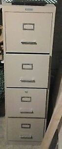 "Commodore 4 Drawer   52"" high Filing Cabinet No key"