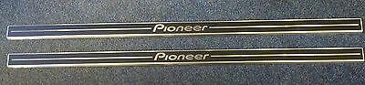 BRAND NEW PIONEER SILL PROTECTORS 83CMS LONG - AIRCRAFT ALUMINIUM-SELF ADHESIVE