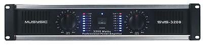 2 Channel 3200 Watts Professional Power DJ Amplifier 2U Rack Mount Mixer Stereo