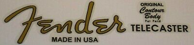 Fender Telecaster Style Vinyl Decal (easier to use than a waterslide)