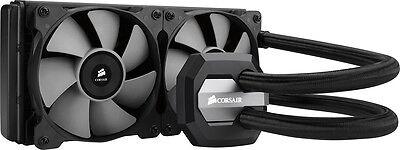 CORSAIR - Hydro Series 240mm Liquid CPU Cooler - Black/Gray