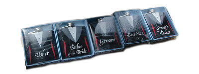 Novelty Hip Flask Wedding Gifts For Usher, Father of the Bride, Groom, Best Man - Gifts For Wedding Ushers