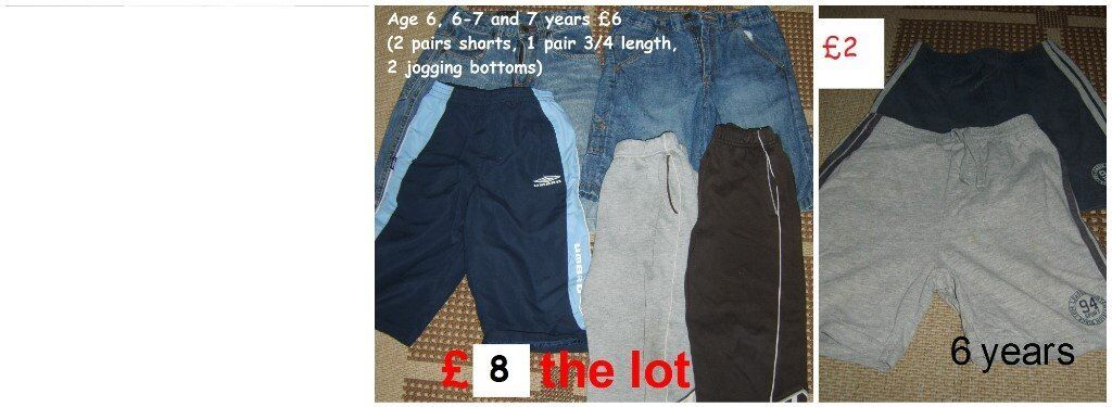 boys clothes 6-7 years prices in picture £12 the lot no offers