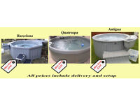 Single peice rotomolded portable 5, 6 and 7 person Hot Tubs for hire (4 night mimimum hire)