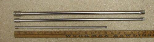 """3 Vntg Craftsman """"V"""" Extensions,1/4"""" X 14"""",3/8"""" X 19-7/8"""",1/2"""" X 19-3/4"""",XLINT!"""