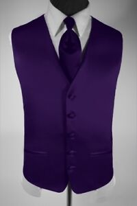 Men's Suit Tuxedo Dress Vest Necktie Bow Tie Handkerchief Set