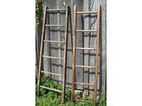 Old Vintage Wooden Ladders