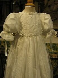 antique cream christening gown