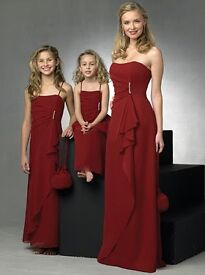 Bargain red bridesmaid dress forever yours brand