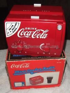 Coke Coca-Cola cooler Radio AM/FM Weather bands TV1 TV2 mc-194