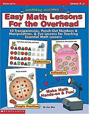 Easy Math Lessons (Easy Math Lessons for the Overhead : 10 Transparencies, Punch-Out Numbers and)