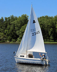 1987 Siren 17 sailboat with trailer