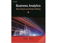 BUSINESS ANALYTICS: DATA ANALYSIS AND DECISION MAKING Hardback-Albright and Winston