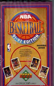 1991-92 UPPER DECK .... BASKETBALL .... LOW # BOX .... 36 packs