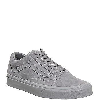 Vans Old Skool Trainers Frost Grey Suede Exclusive  RARE  size 9 uk ... 25d00194086c