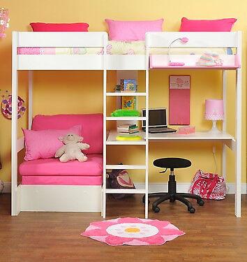 Groovy Stompa High Sleeper With Futon Loris Decoration Camellatalisay Diy Chair Ideas Camellatalisaycom