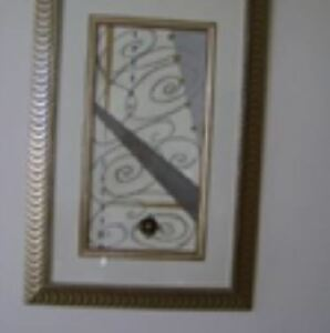 WALL PICTURE  &  MIRROR  &  GLASS VASE