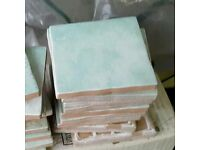 Approx 280 10cm square tiles - green