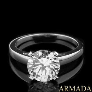 2-CT-ROUND-CUT-D-VS-DIAMOND-SOLITAIRE-ENGAGEMENT-RING-14K-WHITE-GOLD