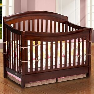 Crib and Dresser - espresso / dark brown
