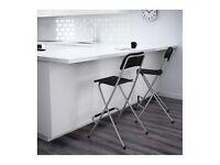 Black IKEA foldable high chair / stool