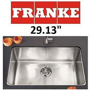"NEW FRANKE UNDERMOUNT KITCHEN SINK - 129054043 - STAINLESS STEEL SINGLE BOWL 29.13"""